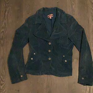 Mng teal corduroy jacket